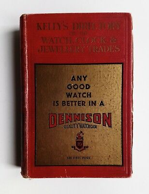Kelly's Directory Watch Clock and Jewellery Trades England Scotland Wales 1937