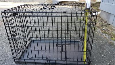Folding Dog Cage 24 x 18 x 18 inches with tray, 2 doors