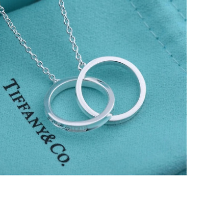 f302fb254 TIFFANY & CO. 1837 Interlocking Circles Necklace in Sterling Silver ...