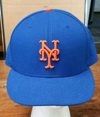 best loved a25d5 c3368 New York Mets New Era 59fifty Fitted Hat Official On-Field Cap Men s Size 7