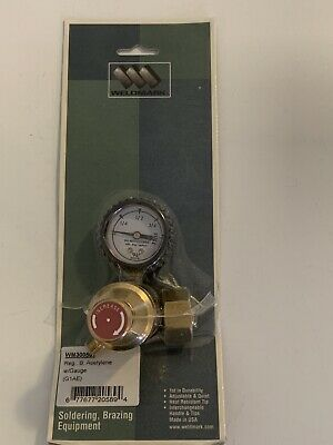 Weldmark Acetylene B Regulator With Gauge WM300501 G1AE Soldering Brazing Equip