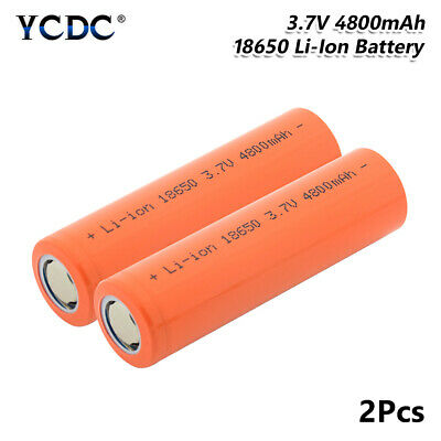 18650 Battery 3.7V 4800mAh Li-ion Rechargeable Cell For Flashlight Torch 2Pcs 7
