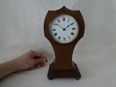 Antique Edwardian Mahogany Mantle Clock