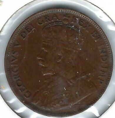 1917 Canadian Circulated VF One Large Cent George V Coin!