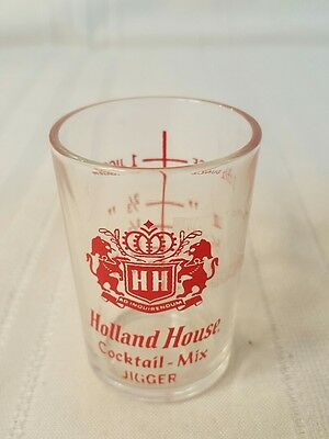 Holland House Cocktail Mix Glass with Ounce and  Jigger Measurements 223