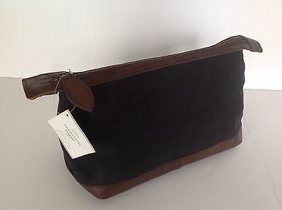 Pottery Barn Union Canvas Toiletry Case Black New Msrp $49.50 Free Shipping