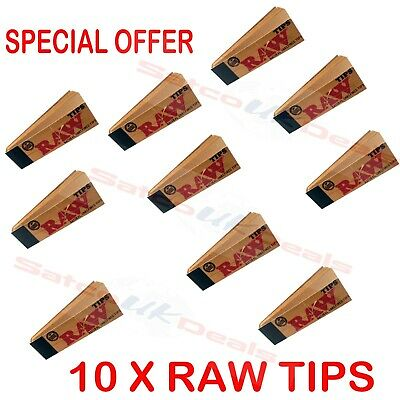 10 X BOOKLETS Raw Rolling ROACHES Papers Filter Tips Standard Size Vegan Rizla
