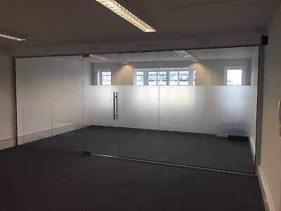 Glass Divider - Office Divider - Glass Panels - Glass Partitions FREE DELIVERY