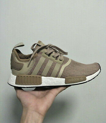 68eb47b19 New Adidas Boost Nmd R1 Raw Gold White Mens Size 9.5   12 Running Shoes  B79760