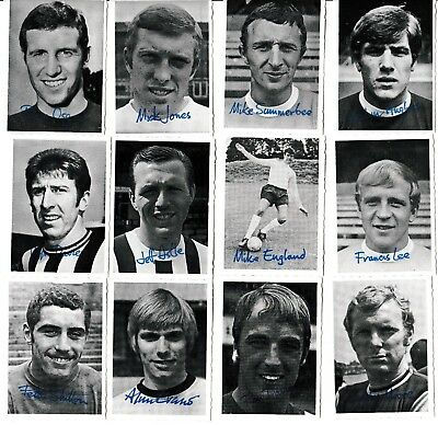 1969/70 A&BC Footballer Crinkle Cut Photo Cards (Choose from dropdown list)