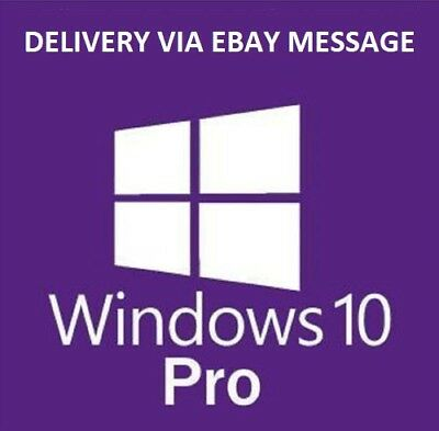 Windows 10 Pro Professional 32/ 64bit GENUINE ACTIVATION KEY LICENSE Lifetime