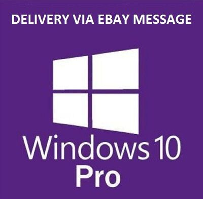 Windows 10 Professional Pro 32 & 64 BIT Activation Code License Key New