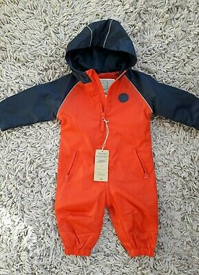 Mothercare Baby Boys Puddlesuit Age 3/6 Months Hooded New Bnwt
