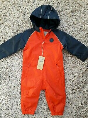 Mothercare Baby Boys Puddlesuit Age 6/9 Months Hooded New Bnwt