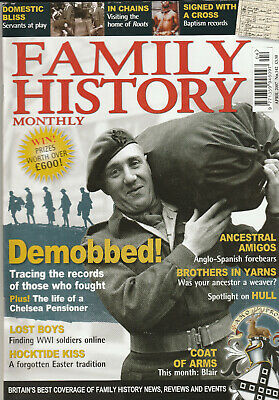 FAMILY HISTORY MONTHLY Magazine April 2007 - Demobbed!