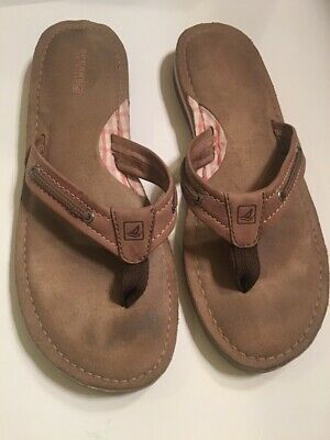 e10022b7267e SPERRY TOP-SIDER SEAFISH Sandals Flip Flops Women s Brown Leather ...
