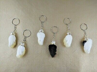 RABBIT FOOT KEY CHAIN  NATURAL COLOR Genuine Luck Lucky purse crafts belt
