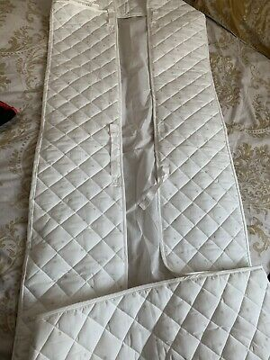 Ikea White With Grey Stars Cotton Quilted Cot Bumper 120/70