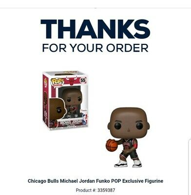 Funko POP NBA Chicago Bulls Michael Jordan Fanatics Exclusive #55 *CONFIRMED*
