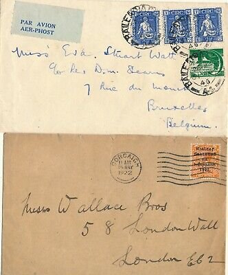 Ireland 1922 & 1946, Unchecked Nice Lot Of Of 2 Different Used Covers. #z728