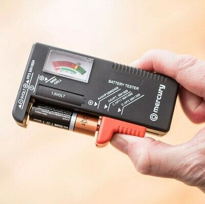 Mercury's Universal Battery Tester/ Checker,for AA,AAA,9v,C,D & All Button Cell