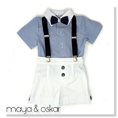 Baby Boys Summer Smart Outfit Set Shorts Formal Party Wedding Suit 0m - 3yrs
