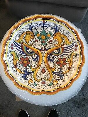 DERUTA ITALY Italian Pottery RAFFAELLESCO SCALLOPED SERVING BOWL 12""