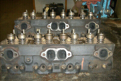 350 SBC 882 Heads Pair 37 & 38 333882 5A & 6A With All Head