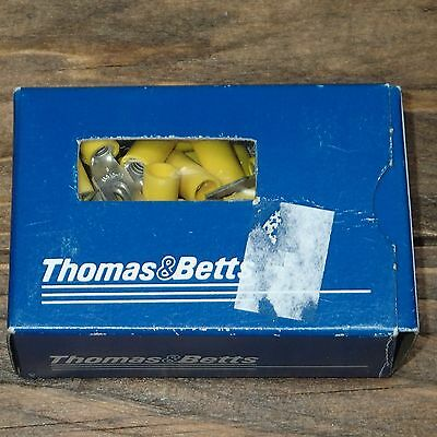 New 10RC-6FL Thomas & Betts Terminal Crimps, Pkg/50 Locking Fork Sta-Kon Vinyl