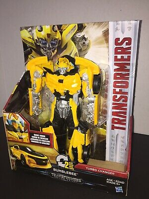 NEW Hasbro Transformers The Last Knight Turbo Changer Bumblebee Action Figure