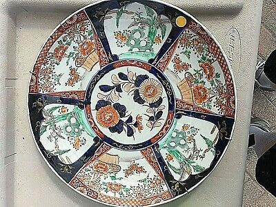 Antique Japanese Imari Charger.   Very large.