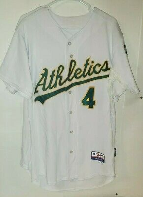276bfa4a7 Oakland Athletics Majestic 44 Official Cool Base Jersey - White - Team  Issued