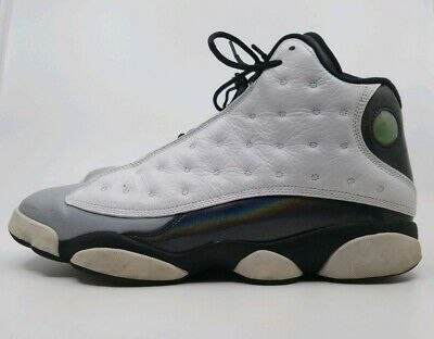 sports shoes 6b7cc 3bd95 Air Jordan Xiii 13 Retro Used Size 11.5 Barons White Tropical Grey 414571  115