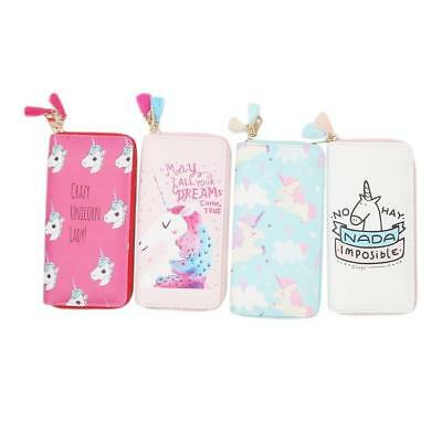 Women Girls Magic Unicorn Wallet Zipper Clutch for Teenage Girls Purse TO