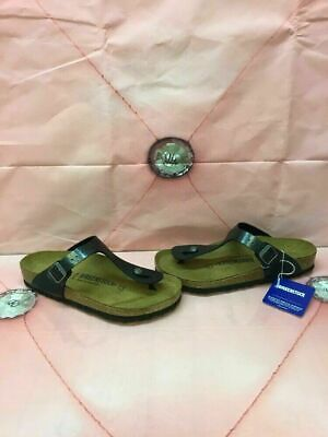 e785314da2a Birkenstock Gizeh Graceful Licorice Birko-Flor Buckle Sandals Women s Size  39 M