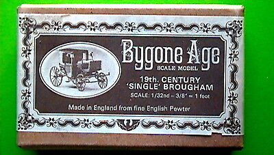 VINTAGE BYGONE AGE 19th CENTURY 'SINGLE' BROUGHAM 1/32nd SCALE PEWTER MODEL KIT