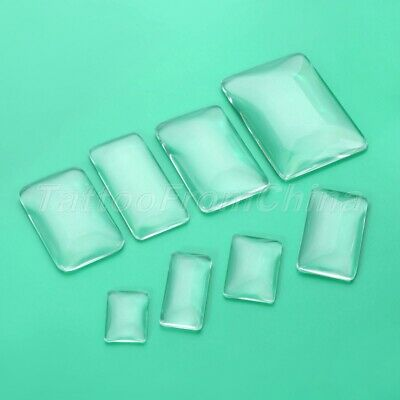8 Size Rectangle Clear Glass Cabochon Base Cover Scrapbooking Jewellery Making