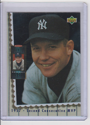 1994 Upper Deck Mantle Heroes Mickey Mantle/1957 2Nd Consecutive Mvp!!!!!!!!!!