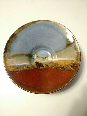 Beautiful Artistic Landscape Glazed Pottery / Stoneware Tea Ceremony Bowl-Signed