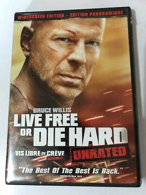 LIVE FREE OR DIE HARD UNRATED Dvd 2007 Canadian Widescreen Bruce Willis