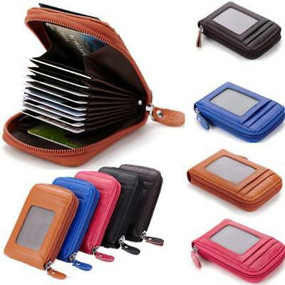 Womens Mini Slim Leather Wallet Purse ID Credit Card Holder Case Organizer TO