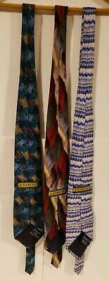 Jerry Garcia ties - Lot of 3 Ft. Banyan Tree and Wetlands Collection