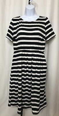 afc227c9b1c57 Honey & Lace Piphany Windsor Black Striped Dress Large NWT Capsule POCKETS
