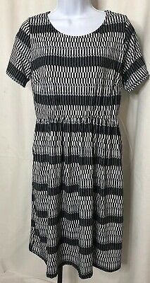 9fc309f7c0e2e Honey & Lace Piphany Windsor Black Print Dress Medium NWT Capsule POCKETS