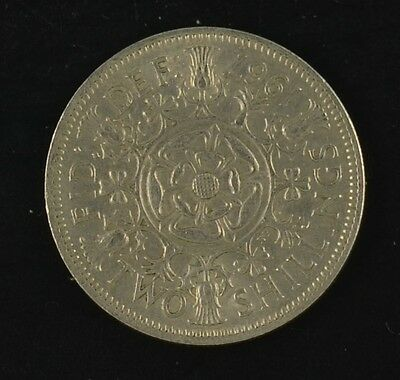1954 to 1967  Elizabeth II florin - two shillings  CIRCULATED collectable grade
