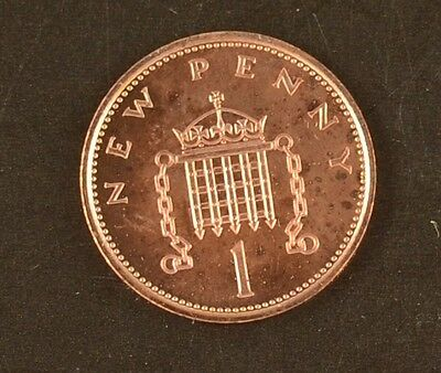 British ONE PENCE 1p UK Coin, 1971 -  2003, UNCIRCULATED CHOICE OF DATES