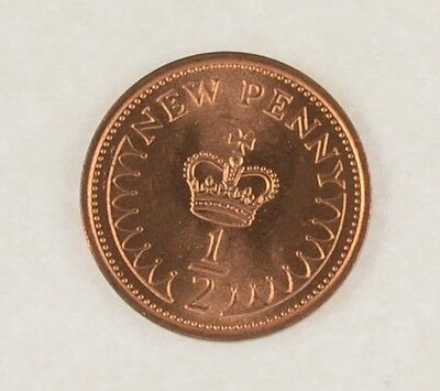Half Penny 1/2p  1970 - 1984 half new pence uncirculated CHOICE OF DATES