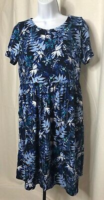 26ff1a9114dee HONEY & LACE Piphany Windsor Blue Dress Small NWT Capsule POCKETS ...