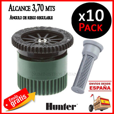 Tobera Hunter difusor de riego. Regulable 3,70 mts. 10 Boquillas 12A aspersores