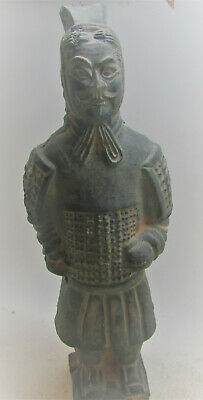 Ancient Han Dynasty Style Terracotta Army Soldier Statuette